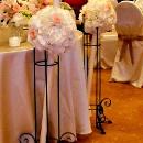 lumanare-nunta-cu-hortensie-alba-si-trandafir-roz-pastel